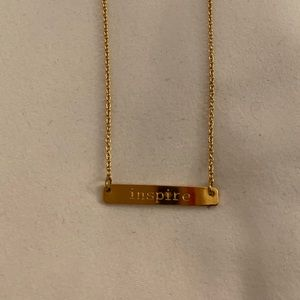 """Join & Nona """"Inspire"""" Tag Necklace- NWOT"""